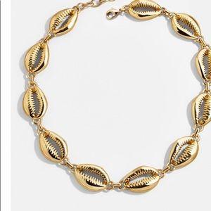 Gold plated seashells choker